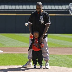 Photos: Kanye West And Son Saint Bond Over Baseball In Chicago