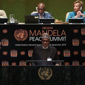 #UNGA73: President Buhari Praises Nelson Mandela At UN Peace Summit