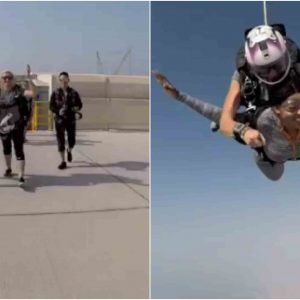 Actress, Rukky Sanda Jumps From A Plane As Part Of Her 34th Birthday Celebration