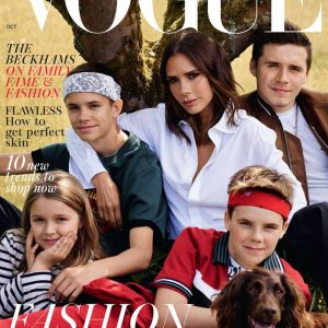 The Beckhams Cover British Vogue's October 2018 Issue