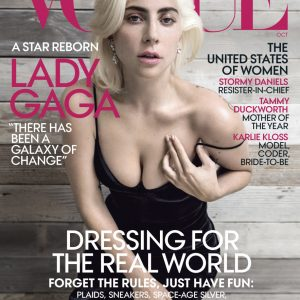 Lady Gaga Is Looking Awesome On The Cover Of Vogue Magazine's October 20018 Issue