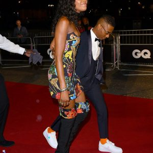 Star Boy, Wizkid And Naomi Campbell Pictured Together At The 2018 GQ Men Of The Year Awards