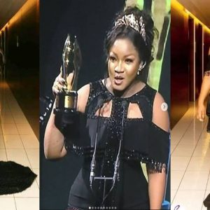AMVCA 2018: Actress Omotola Jalade Shades Half Naked Women At The AMVCA 2018 With A Fan's Post