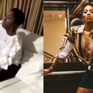 Ailing Tiwa Savage In Tears As Doctor Battles to Inject Her…