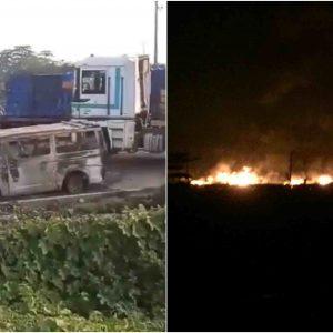 Fuel Tanker Explodes At Ojo Barracks, Many Cars Razed (Video)