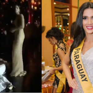 Miss Paraguay Clara Sosa Faints On Stage After Being Declared Winner
