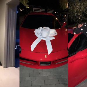 Photos / Video: Kylie Jenner Surprises Her Mother Kris Jenner With A Brand New Ferrari For Her Birthday