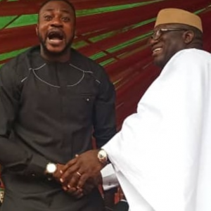 Photos: Nollywood Actor, Odunlade Adekola Attends Fayemi's Inauguration, Shakes Hands With Governor