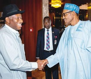 President Buhari's Wishes Ex-President Jonathan As He Turns 61…