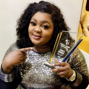 Photos: Actress ENiola Badmus Wins Best Actress At Plus Size Fashion Week Africa