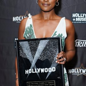 Hollywood Actress, Issa Rae Receives Vanguard Award From Hollywood Chamber Of Commerce