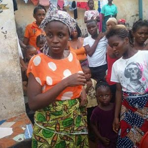 Graphic Photos: Lady Kills Her Baby After Childbirth Yesterday In Sierra Leone