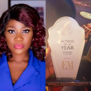 Nollywood Actress, Mercy Johnson Wins Actress Of The Year At Eloy Award 2018