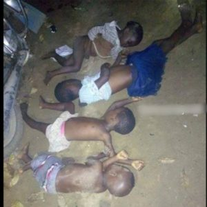 Photos: Man kills ls His Four Kids, Hangs Himself In Eleme, Rivers State