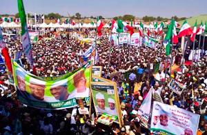 2019: Massive Turnout As PDP's Yesterday Rally In Sokoto
