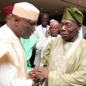 2019: Former President Obasanjo, Atiku, Secondus Meet In Abuja