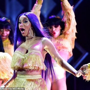 Singer Cardi B Puts On A Display As She Flaunts Her Backside On Stage (Photos)
