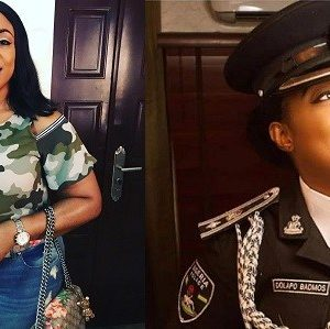 "Can The Army Harrass An Off Duty Police Officer For Rocking Military Outfit?"" – Nigerians Ask Dolapo Badmos As She Rocks Camo Top"